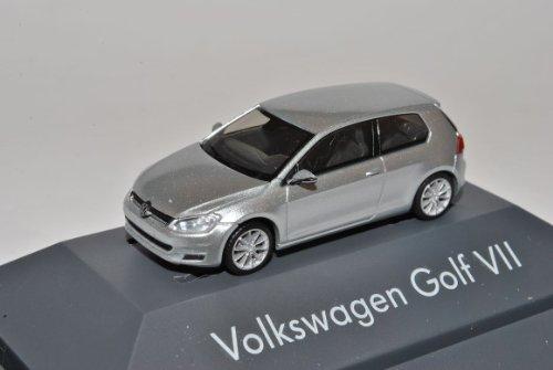 Rietze Volkwagen Golf VII 3 Türer Silber Ab 2012 H0 1/87 Modell Auto mit individiuellem Wunschkennzeichen