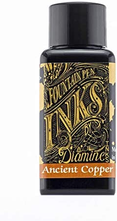 Diamine 30 ml Bottle Fountain Copper Pen Ink by All items 100% quality warranty! in the store Ancient