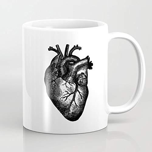 ZIQIZIYU Taza de café de la anatomía 324 ML del corazón del