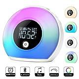 Wake Up Light Alarm Clock, Uplayteck Bluetooth Speaker Table Lamp Kids Alarm...