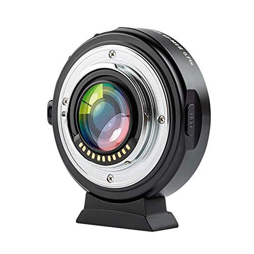 VILTROX EF-M2 Adaptateur d'objectif autofocus 0,71 X pour objectif Canon EOS vers Micro Four Thirds (MTF, M4/3), réducteur de focal pour GH4 GH5 GF6 GF1 GX1 GX7 E-M5 E-M10 E-PL5
