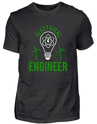 Electrical Engineer - Elektriker - Elektrik Elektroniker - Windräder - Glühlampe - Strom - Herren Shirt -M-Schwarz