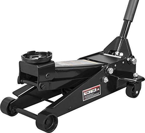 Torin ATZ830023B Hydraulic Heavy Duty Steel Service/Floor Jack with Dual Piston Quick Lift Pump, 3 Ton (6,000 lb) Capacity, Black