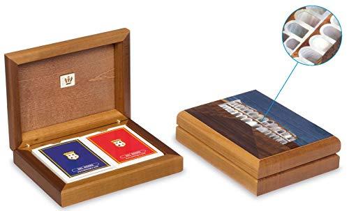 Dal Playing Cards Arena di Verona 16.5 x 12.5 cm Wood Brown
