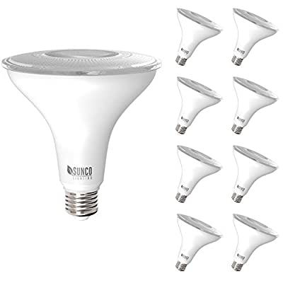 Sunco Lighting 8 Pack PAR38 LED Bulb 13W=100W, 5000K Daylight, 1050 LM, Dimmable, Indoor/Outdoor Spotlight, Waterproof - UL & Energy Star Listed