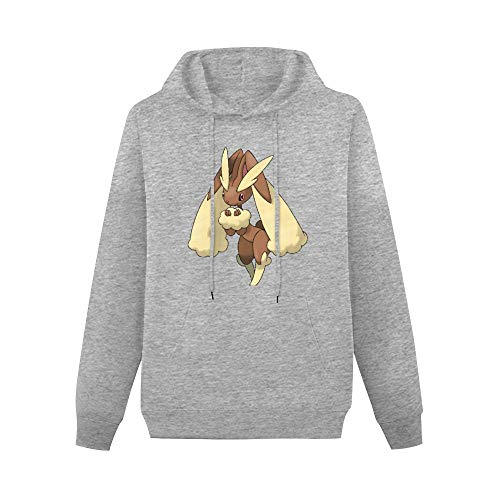 MDOUWoo Pullover Hoodie Men Lopunny Suitable for Autumn and Winter M Gray