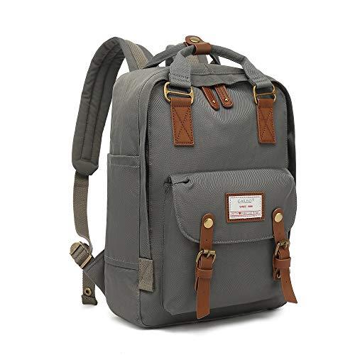 CALIYO Rucksack Damen groß modern Schulrucksack Mädchen Teenager Tagesrucksack Verschiedene Tragevarianten Rucksack für Uni viele Fächer mit Laptop-Fach Backpack wasserdicht (Grau)
