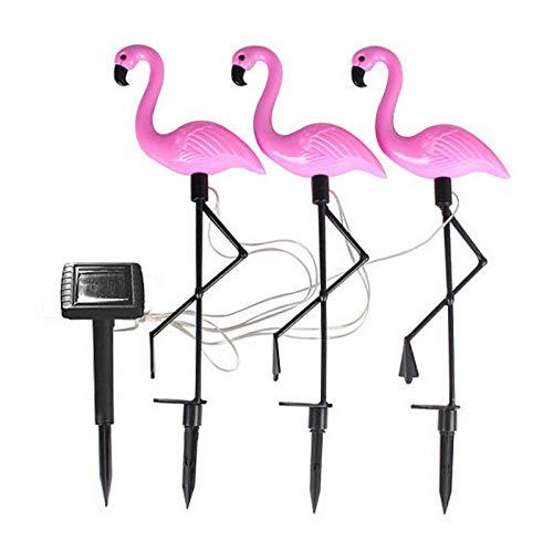 Luces solares al aire libre, 3pack Impermeable Flamingo Jardín LED LED Luz Luz Solar Powered Césped Yard Paisaje Camino Luces decorativas