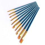 Juego de 10 brochas de pintura, color azul cielo, multifuncional, de nailon, para el cabello...