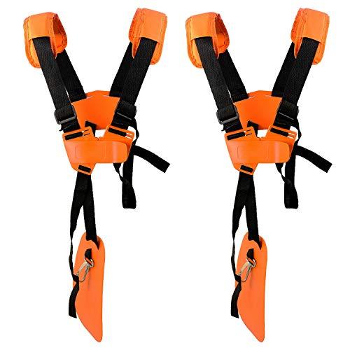 2 Pacchi Cintura Decespugliatore Universale - Tracolla Decespugliatore Professionale Trimmer Harness Strap per STIHL, Echo, Husqvarna, Shindaiwa, Honda Decespugliatore Brush Cutter.Eccetera(Arancia)