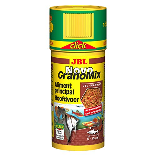 JBL Novo granomix Click Comida para acuariofilia 250ml–Juego de 2 ✅