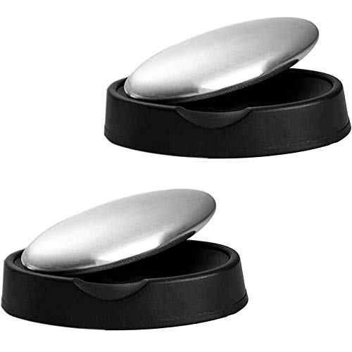 2 Pack Stainless Steel Soap Bar Magic Odor Remover Eliminating Smell Like Onion, Fish or Garlic