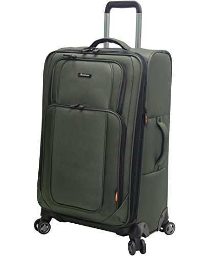 Pathfinder Presidential Designer Luggage Collection - Expandable 29 Inch Softside Bag - Durable Large Lightweight Checked Suitcase with 8-Rolling Spinner Wheels (Olive)