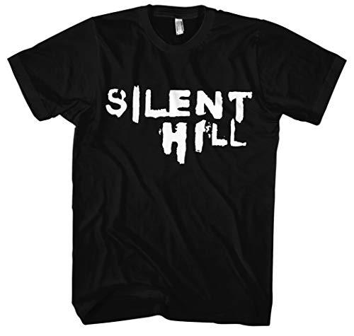 Silent Hill T-Shirt | Gamer | Nightmare | Freitag der 13 | Horror | Bone | Skull | Kostüm | Halloween | Horror | Geschenk | Männer | Herrn | Fun | Kult (XL, Schwarz)
