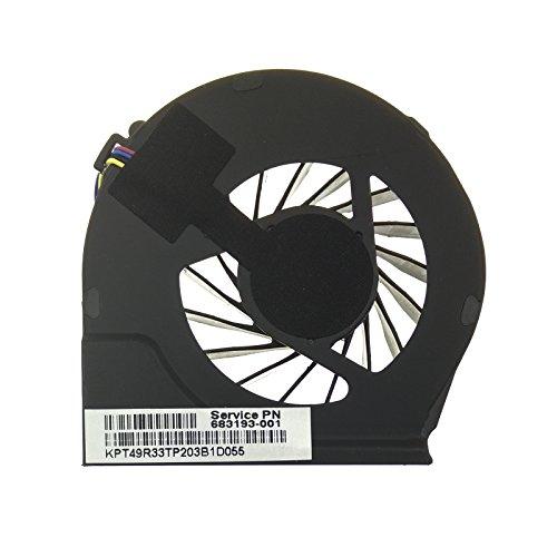 HP Ventilador 683193-001 Compatible Compaq G G6-2000 | G6-2021SP | G6-2244EP | G7-2000 y Part Number 055417R1S | 680551-001 | FAR3300EPA
