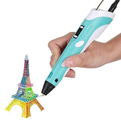 Robocraze 3D Pen-2 Professional | 3D Printing Drawing Pen with 3 x 1.75mm ABS/PLA Filament for Creative Modelling and Education (Pack of 1)