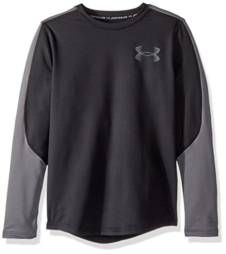 Under Armour Boys ColdGear Crew, Black (001)/Graphite, Youth Small