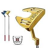 Putter de palos de golf para hombres y mujeres Putter de golf integración CNC eje de acero inoxidable Golf traning 34'' Golf Driver con Golf Headcoverr (dorado)