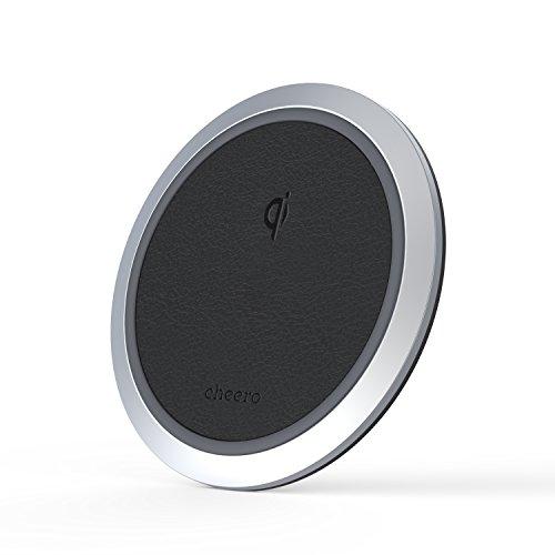 cheero Wireless Charger ( Qi認定 ワイヤレス充電器 ) 置くだけでスマホ充電 底面・表面滑り止め iPhone 8 / 8 Plus / Ⅹ / Qi対応 Android機種