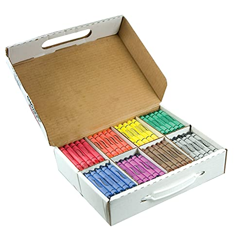 Prang Crayons Master Pack, Large Size, 8 Assorted Colors, 200 Count (32341)