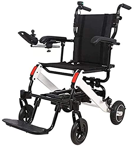 Nueva Silla de Ruedas eléctrica Plegable Ligera, luz Inteligente Plegable motorizada en el avión, Silla de Ruedas para Ancianos con discapacidad de aleación de Aluminio