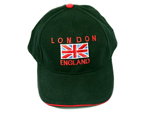 Baseball Caps with Union Jack Embroidery with London...