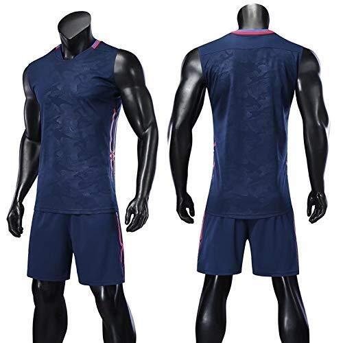 ASSD Pantalones cortos y camiseta de baloncesto para hombre (color: azul real, talla: XXL)