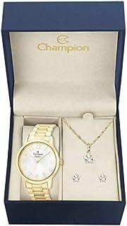 Kit Relógio Champion Feminino + Semi-joia