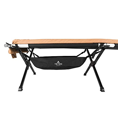 TETON Sports Under Cot Storage; Perfect Companion to the TETON Sports Camping Cots; A Must Have for Camping Cot Users; Storage Organizer for Under Your Cot