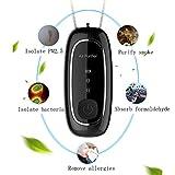 NINI Purificador de Aire portátil USB, Collar Personal Negativo ionizador, Mini Filtro a Prueba de Polvo del Aire Filtro de Aire para Adultos niños al Aire Libre de Interior,Negro