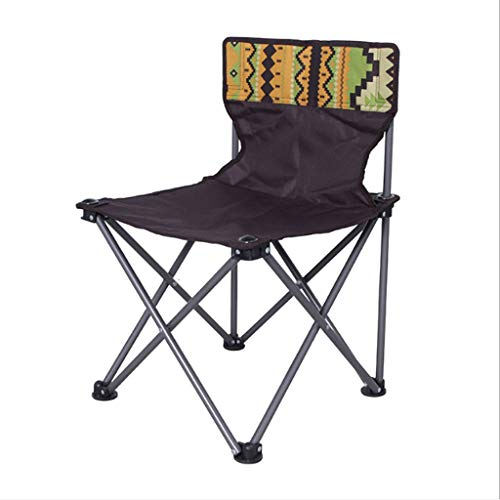 Viqie Outdoor Klappstuhl Strand Angeln Camping Stuhl Oxford Tuch Strandkorb Folding Chair (Color : Brown)