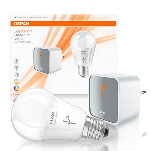 OSRAM LIGHTIFY Starter Kit Gateway – Controller zur Fernsteuerung / Als Remote-Schnittstelle für alle LIGHTIFY-Produkte / LED-Glühlampe / dimmbar / warmweiß bis tageslicht 2000K – 6500K und Farbsteuerung RGB / Kompatibel mit Alexa - 2