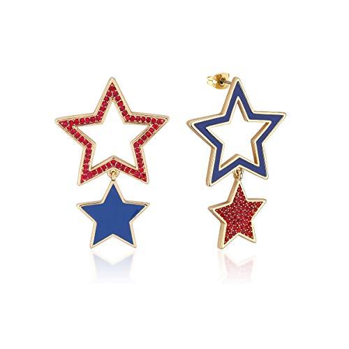 Disney Couture Kingdom Dumbo Boucles d'oreilles pendantes en forme d'étoiles de cirque Plaqué or