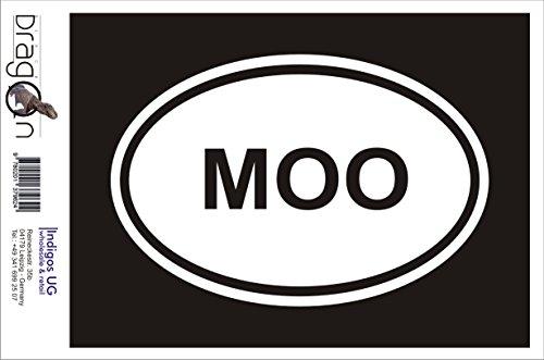 INDIGOS UG Aufkleber Autoaufkleber - JDM Die Cut Auto OEM - MOO Sticker Cow Farm Animal Love Funny Car Folie - 180x120 mm pink - Auto Laptop Tuning Sticker Heckscheibe LKW Boot