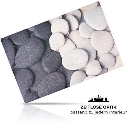 GRAFBURG® Fußmatte 60 x 40cm in schöner Steinoptik - Praktische Schmutzfangmatte für Ihre Wohnung - Hochwertige Fußmatte für draussen und innen