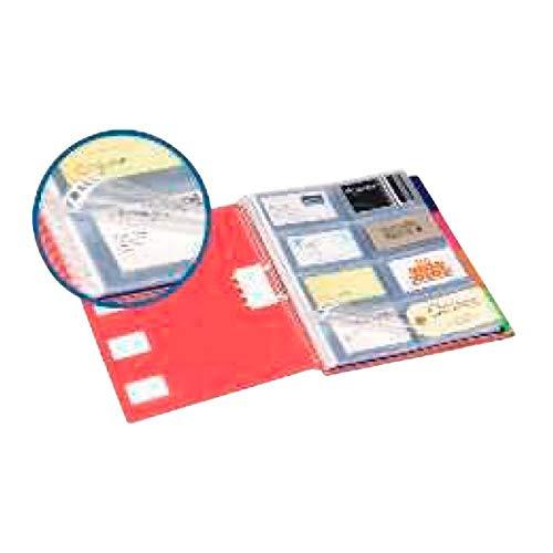 Liderpapel TJ02 - Pack de 20 fundas intercambiables para tarjetas, A4