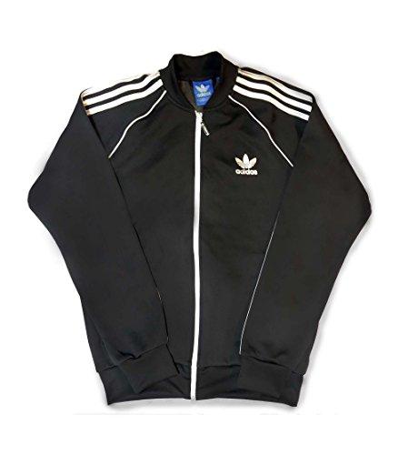 Adidas Originals Superstar Inline X MET TT Herren-Trainingsjacke Gr. Large, schwarz/silber