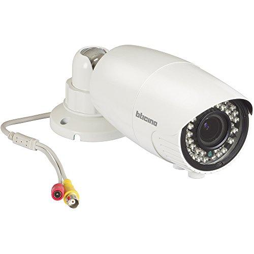 BTicino S391114 TVCC Telecamera Compatta AHD, Varifocale, LED IR, Bianco