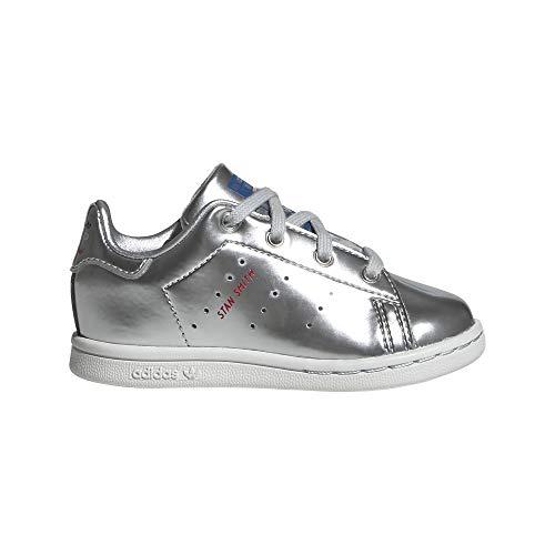 adidas Originals Kids' Stan Smith EL Sneaker, Grey