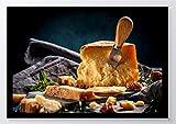 Fotografie Käse Kunstdruck Poster -ungerahmt- Bild DIN A4