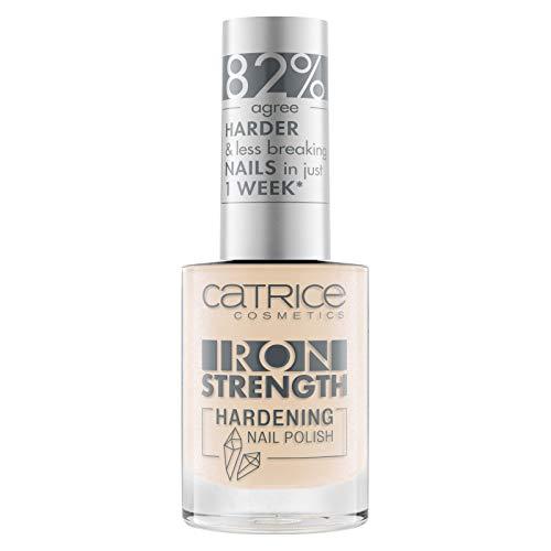 Catrice Iron Strength Hardening Nail Polish, Nailpolish, Nagellack, Nr. 05 Amber Light, nude, für weiche Nägel, härtend, scheinend, ohne Aceton, vegan, Mikroplastik Partikel frei (10ml)