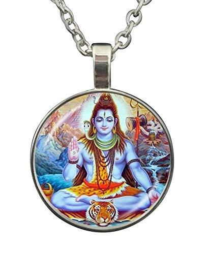 Générique Halskette Anhänger Gott Hinduu Shiva, buddhistisch, Tiger.