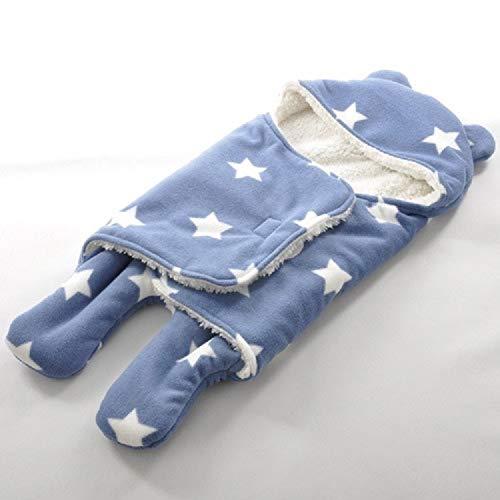 QWERTYU Baby Slaapzak Winter Warm Baby Slaapzak Kinderwagen Baby Beddengoed Accessoires, Grootte: Klein 65x75cm (Blauwe Ster) LIFUQIANGME, Color Dots