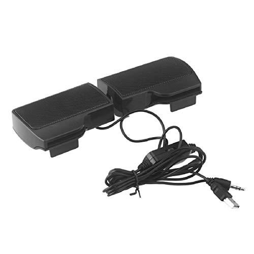 DUOMI Soundbar Mini Altoparlante Stereo Portatile USB Soundbar per Notebook Portatile MP3 Phone Music Player Computer PC con Clip Black