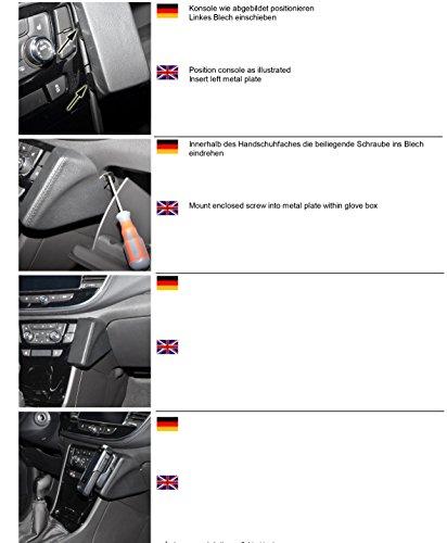 KUDA 2615 Halterung Kunstleder schwarz für Opel Mokka X ab 2016