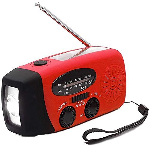 LPWCAWL Radio De Manivela, Radio Solar De Emergencia, Radio Portátil Am/FM con Batería Recargable De 600mAh, Linterna LED, Apto para El Hogar/Al Aire Libre