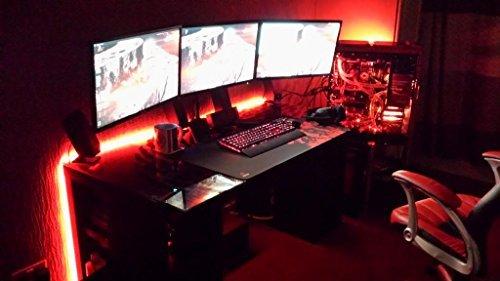 "LED Light KIT for ""your"" Gaming DESK / Gamer Desk / Computer Desk - 8ft - easy install - complete KIT - #1 Best Christmas GIFT for people who play VIDEO GAMES"