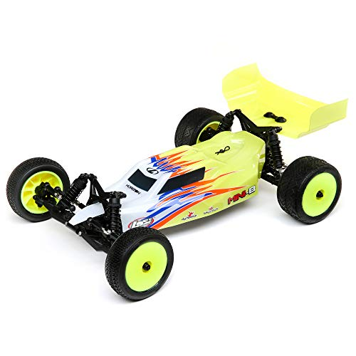 Losi RC Car 1/16 Mini-B Brushed RTR (Ready-to-Run, no Additional Items Needed) 2WD Buggy, Yellow/White, LOS01016T3