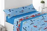 Energy Colors Textil - Hogar - Kid Bed - Juego Sábanas Térmicas Tipo Pirineo Polar 3 Piezas Invierno Otoño (Azul)