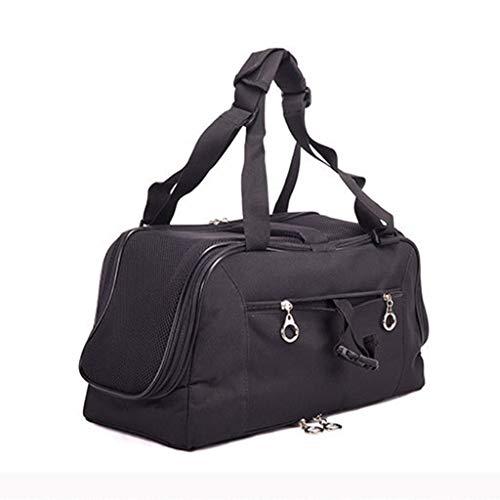 Fashion Luxe Soft-Sided Cat Carrier-Pet Travel Draagbaar kenel voor katten, kleine honden en puppy's, geschikt voor outdoor-wandelen zwart